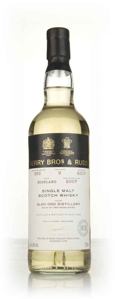 Glen Ord 9 Year Old 2007 (cask 353) - Berry Bros. & Rudd