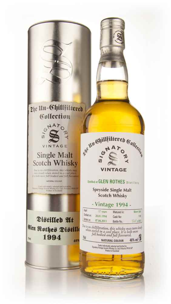 Glen Rothes 17 Year Old 1994 - Un-Chillfiltered (Signatory)