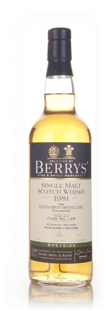Glen Spey 32 Year Old 1981 (cask 126) - (Berry Bros. & Rudd)