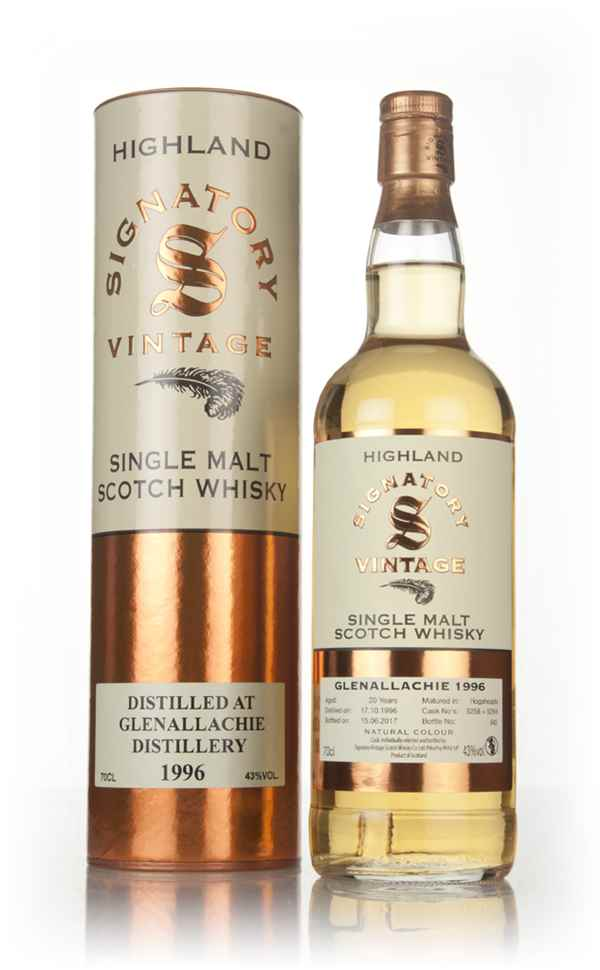 Glenallachie 20 Year Old 1996 (casks 5258 & 5264) - Signatory