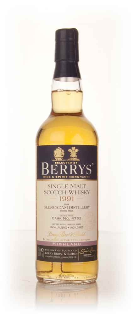 Glencadam 20 Year Old 1991 (cask 4762) (Berry Bros. & Rudd)