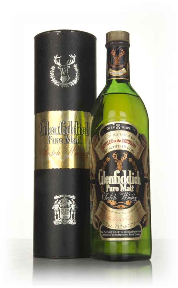 Glenfiddich Pure Malt 8 Year Old 75cl (with Presentation Tube) - 1970s