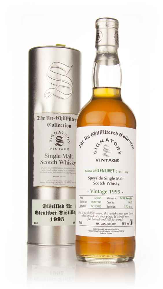 Glenlivet 15 Year Old 1995 - Un-Chillfiltered (Signatory)