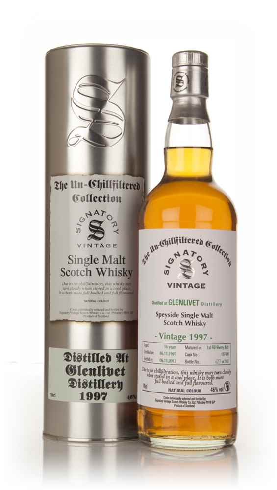 Glenlivet 16 Year Old 1997 (cask 157420) - Un-Chillfiltered (Signatory)