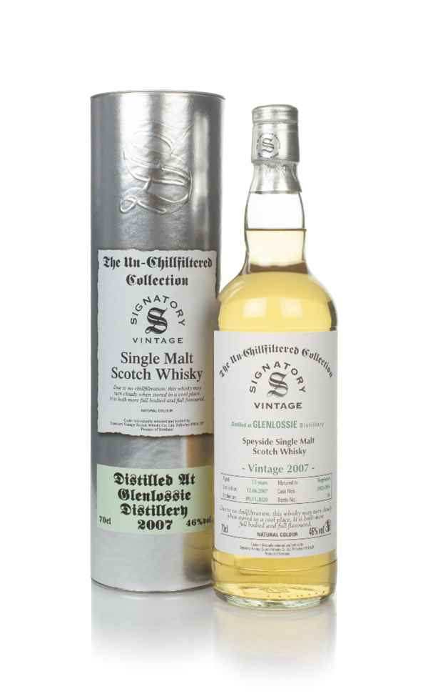 Glenlossie 13 Year Old 2007 (casks 3955 & 3956) - Un-Chillfiltered Collection (Signatory)
