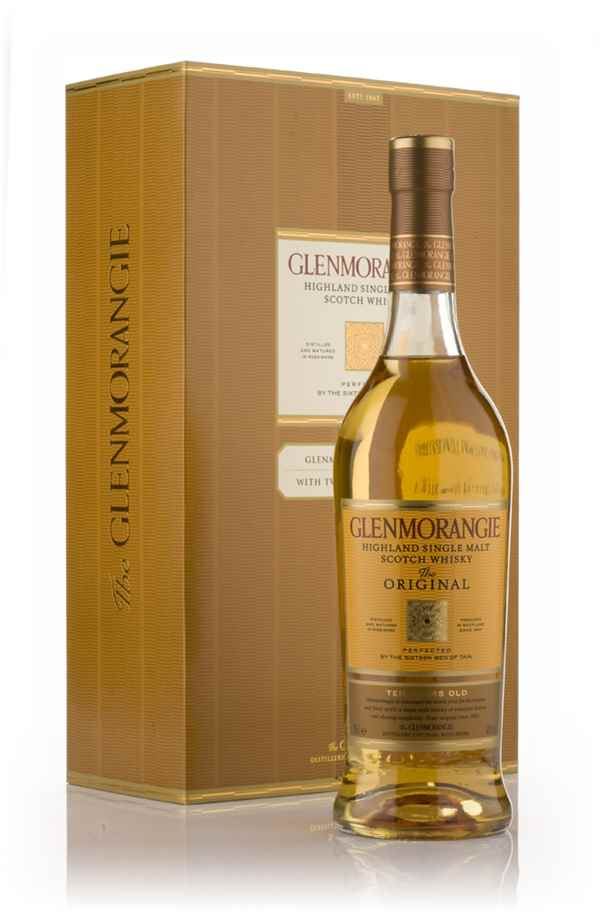 Glenmorangie 10 Year Old - The Original with 2x Crystal Tumblers