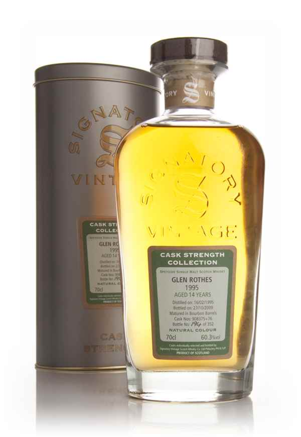 Glenrothes 14 Year Old 1995 - Cask Strength Collection (Signatory)