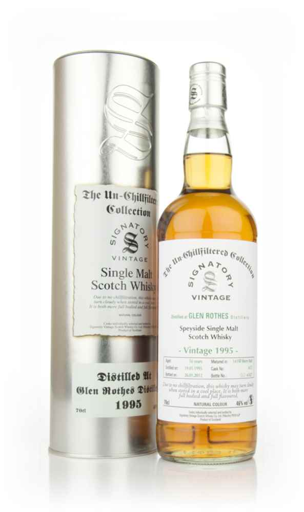 Glenrothes 16 Year Old 1995 - Un-Chillfiltered (Signatory)