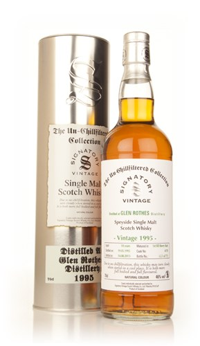 Glenrothes 18 Year Old 1995 (cask 6178) - Un-Chillfiltered Collection (Signatory)