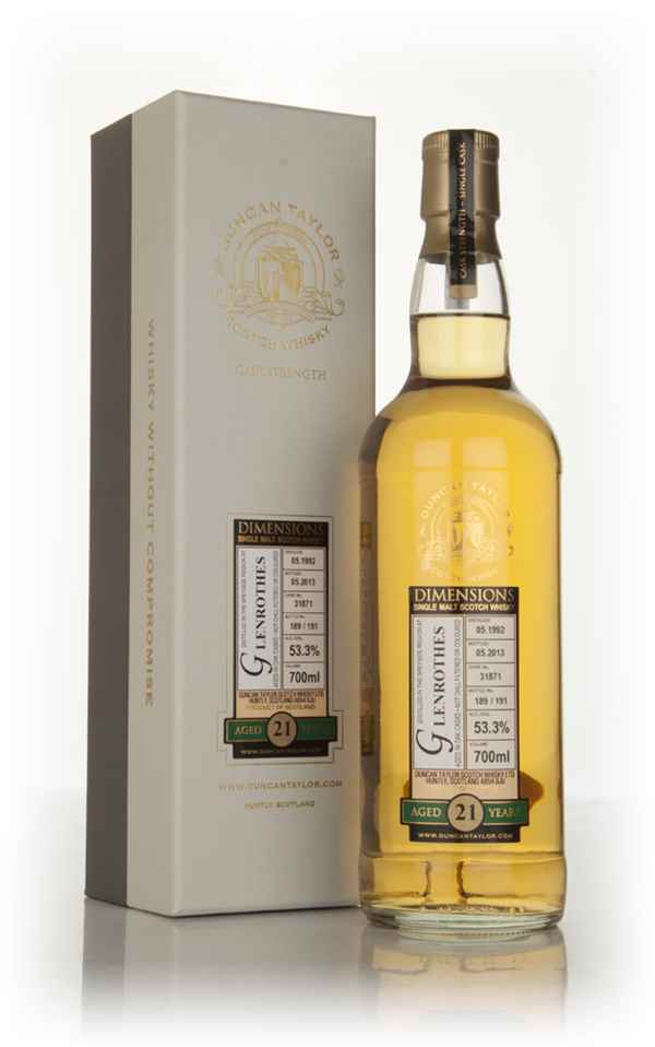 Glenrothes 21 Year Old 1992 (cask 31871) - Dimensions (Duncan Taylor)