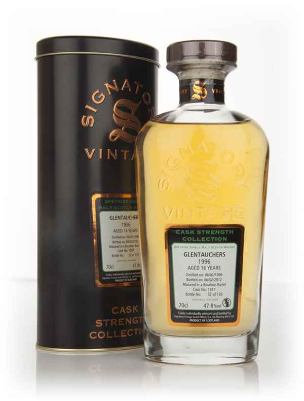 Glentauchers 16 Year Old 1996 (cask 1387) - Cask Strength Collection (Signatory)