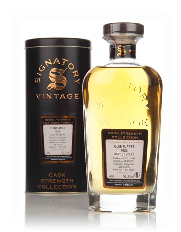 Glenturret 26 Year Old 1986 (cask 295) - Cask Strength Collection (Signatory)