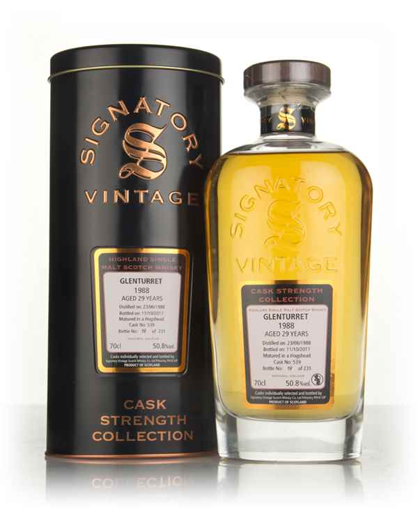 Glenturret 29 Year Old 1988 (cask 539) - Cask Strength Collection (Signatory)