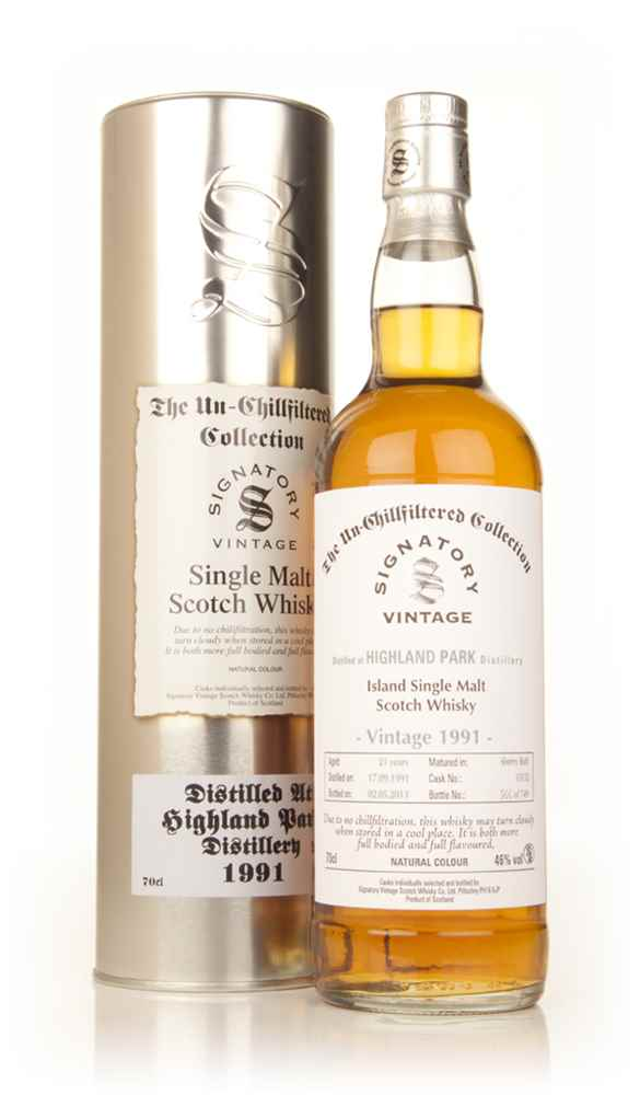 Highland Park 21 Year Old 1991 (cask 15132) - Un-Chillfiltered Collection (Signatory)