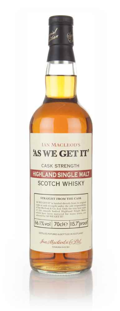 Highland Single Malt - As We Get It (Ian Macleod) 66.1%