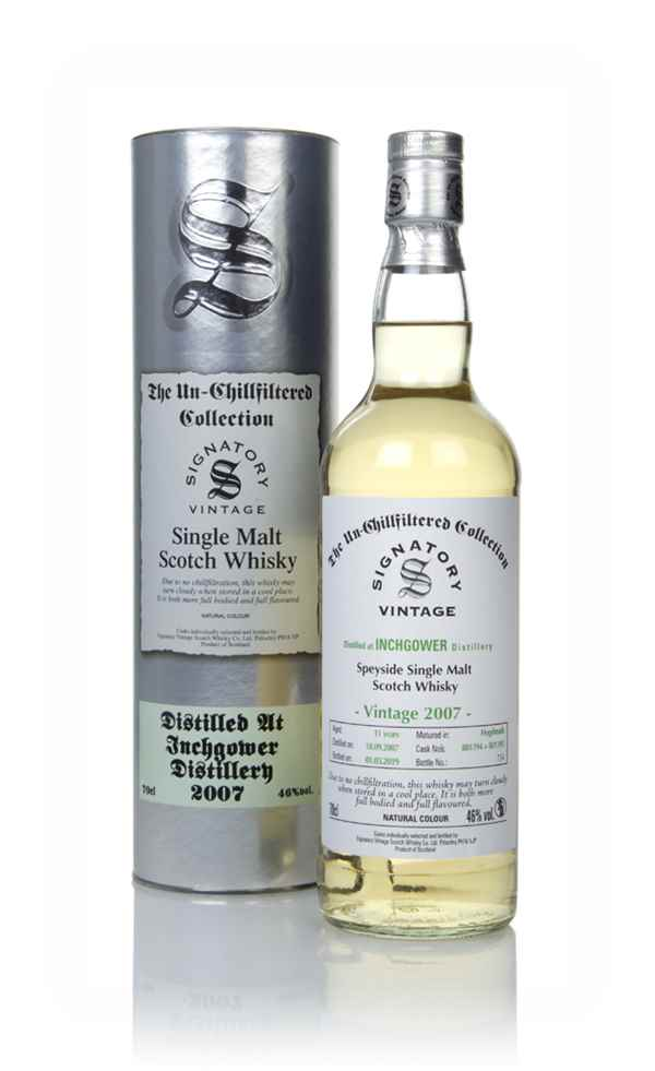 Inchgower 11 Year Old 2007 (casks 801394 & 801395) - Un-Chillfiltered Collection (Signatory)