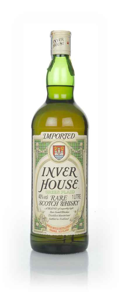 Inver House Green Plaid (1L) - 1980s
