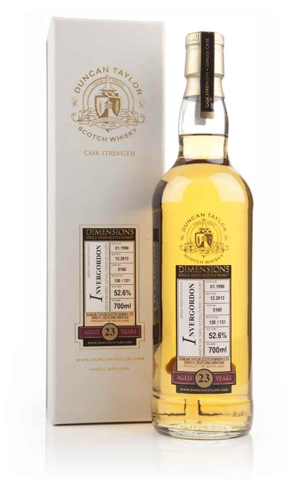 Invergordon 23 Year Old 1990 (cask 5160) - Dimensions (Duncan Taylor)