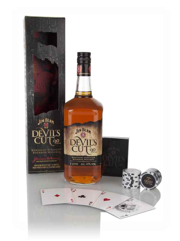 Jim Beam Devil S Cut Gift Pack With Poker Chips Amp Playing