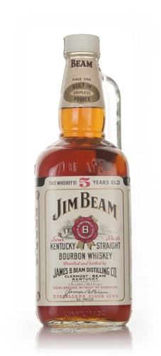 Jim Beam White Label 5 Year Old 175cl - 1970s