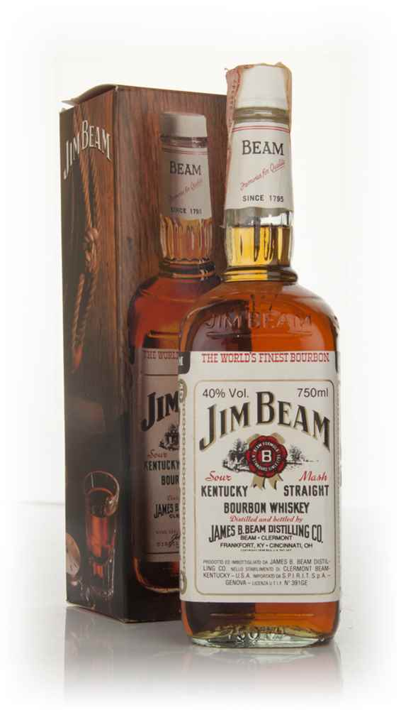 Jim Beam White 4 Year Old - 1980s