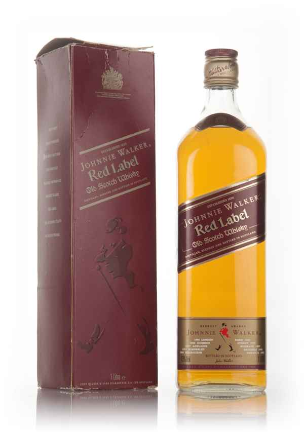 Johnnie Walker Red Label 1L (Boxed) - 1980s