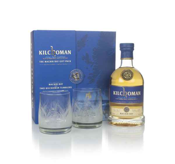 Kilchoman Machir Bay Gift Pack with 2x Glasses