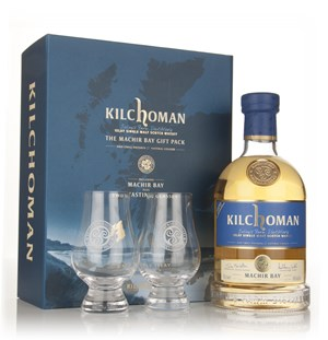 Kilchoman Machir Bay 2013 Release Gift Pack With Two Branded Glasses
