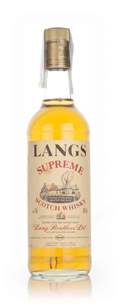 Langs Supreme Blended Scotch Whisky 1970s