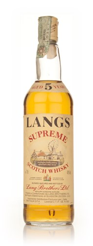 Langs Supreme 5 Year Old Blended Scotch Whisky - 1980s