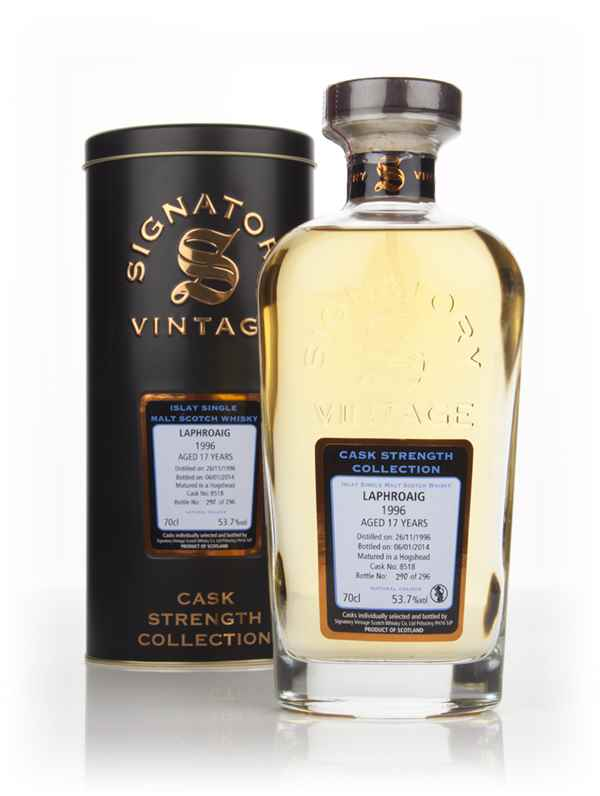 Laphroaig 17 Year Old 1996 (cask 8518) - Cask Strength Collection (Signatory)