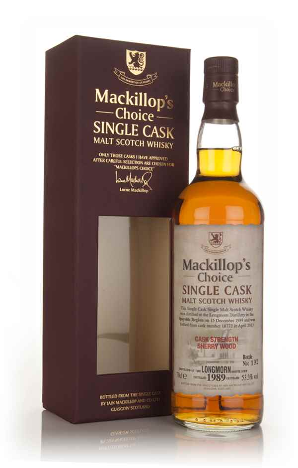 Longmorn 23 Year Old 1989 (cask 18772) - Mackillop's Choice