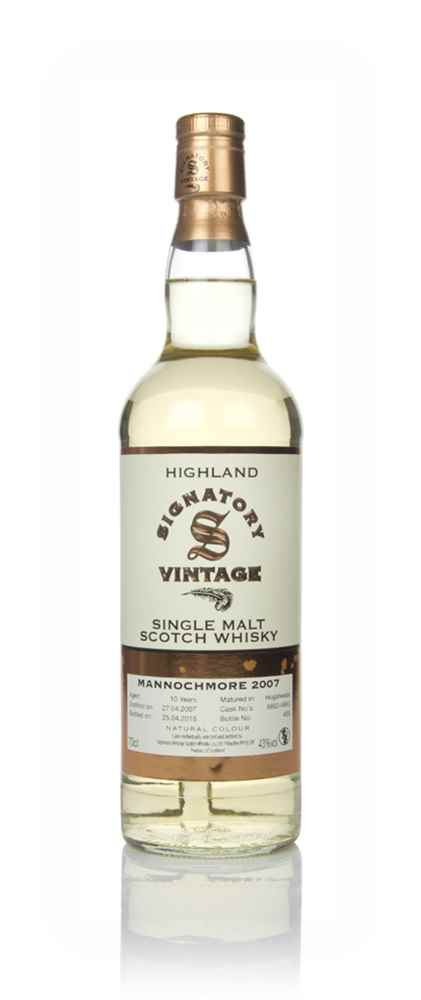 Mannochmore 10 Year Old 2007 (casks 6662 & 6663) - Signatory