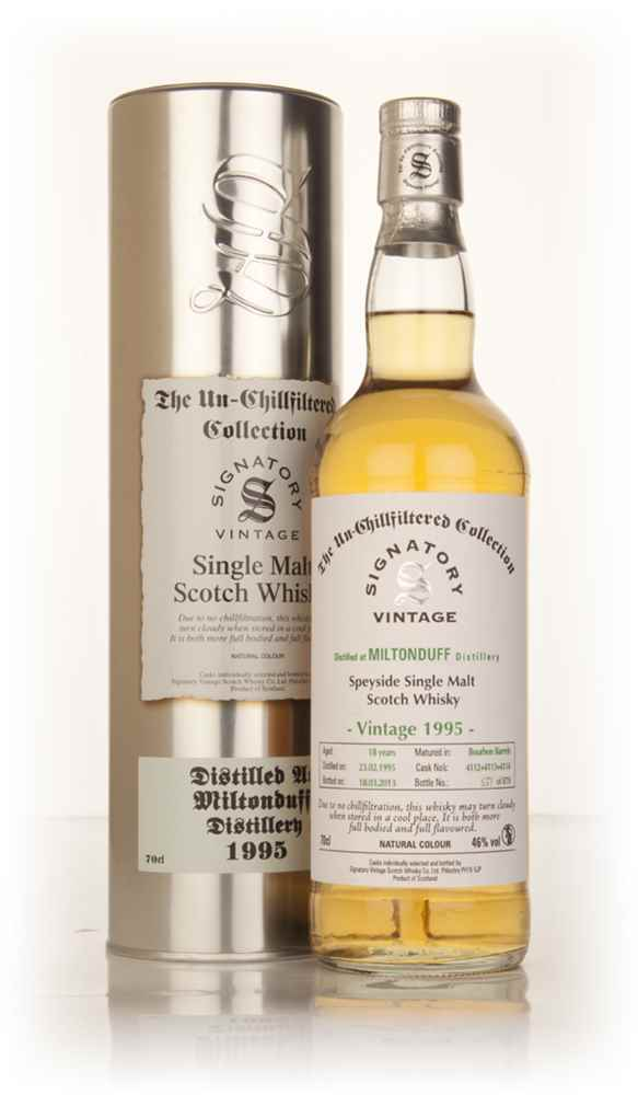 Miltonduff 18 Year Old 1995 (casks 4112+4113+4114) - Un-Chillfiltered (Signatory)