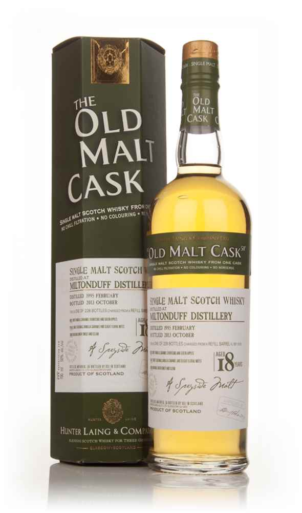 Miltonduff 18 Year Old 1995 (cask 10120) - Old Malt Cask (Hunter Laing)