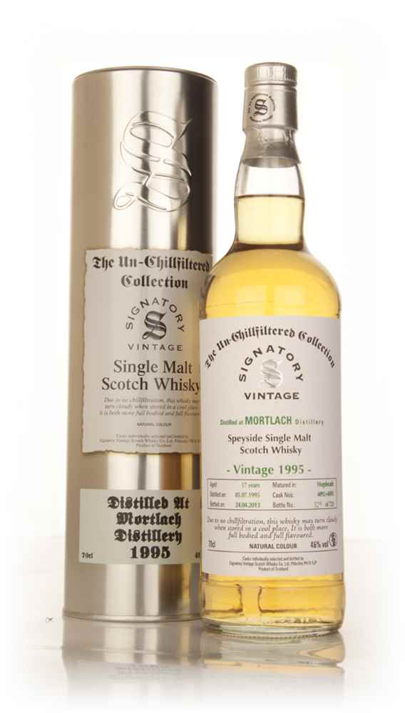 Mortlach 17 Year Old 1995 (casks 4092+4093) - Un-Chillfiltered (Signatory)