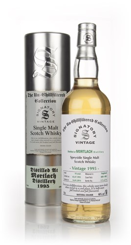 Mortlach 18 Year Old 1995 (cask 4081+4082) - Un-Chillfiltered (Signatory)