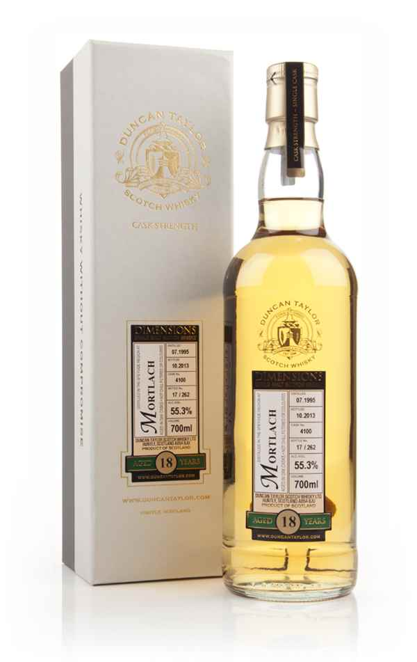 Mortlach 18 Year Old 1995 (Cask 4100) - Dimensions (Duncan Taylor)