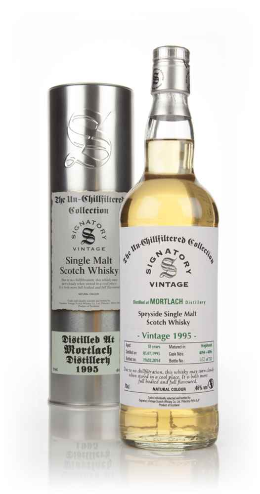 Mortlach 18 Year Old 1995 (casks 4094+4096) - Un-Chillfiltered (Signatory)