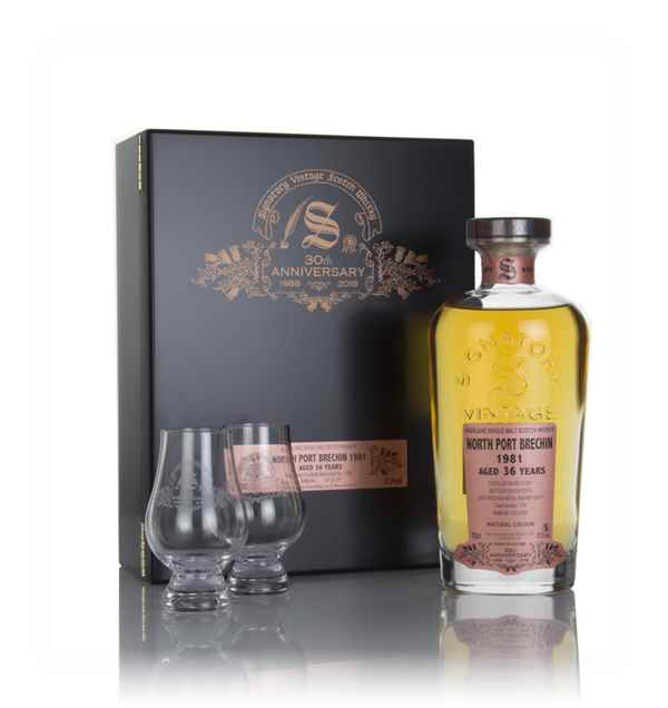 North Port Brechin 36 Year Old 1981 (cask 1708) - 30th Anniversary Gift Box (Signatory)