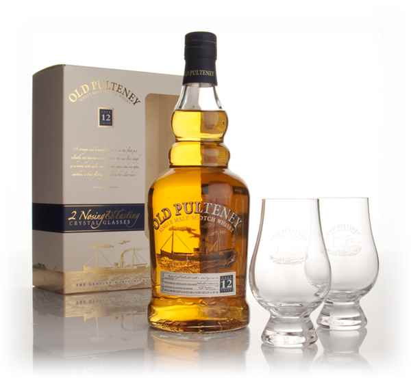 Old Pulteney 12 Year Old with 2x Tasting Glasses