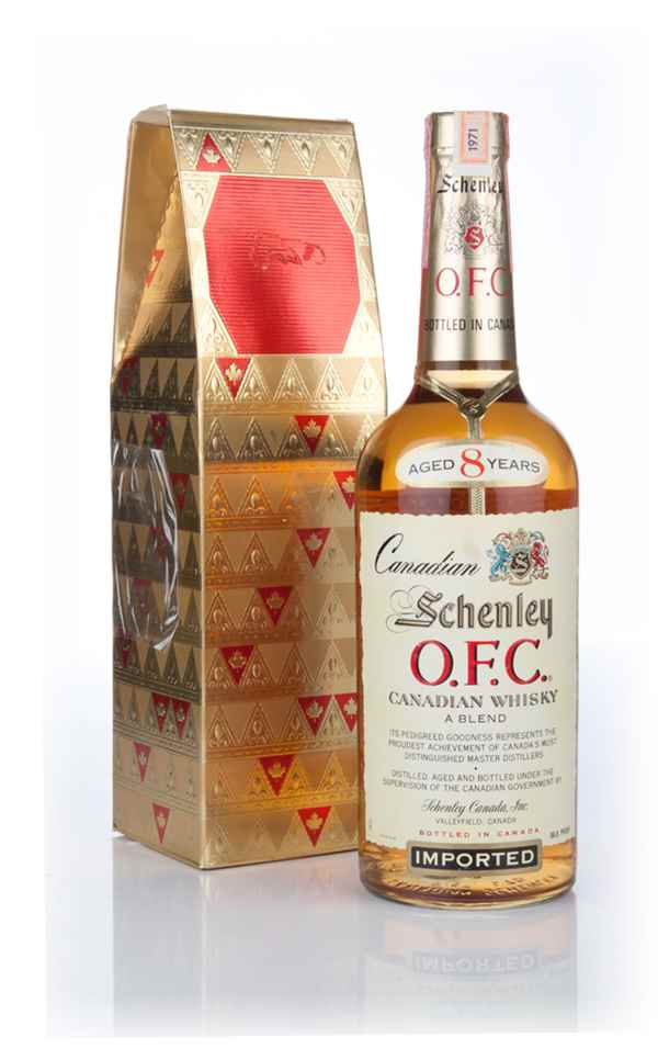 Schenley O.F.C. 8 Year Old Canadian Whisky - 1971