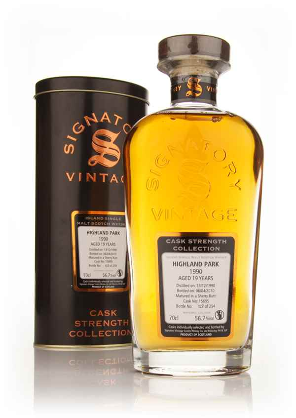 Highland Park 19 Year Old 1990 Cask 15695 - Cask Strength Collection (Signatory)