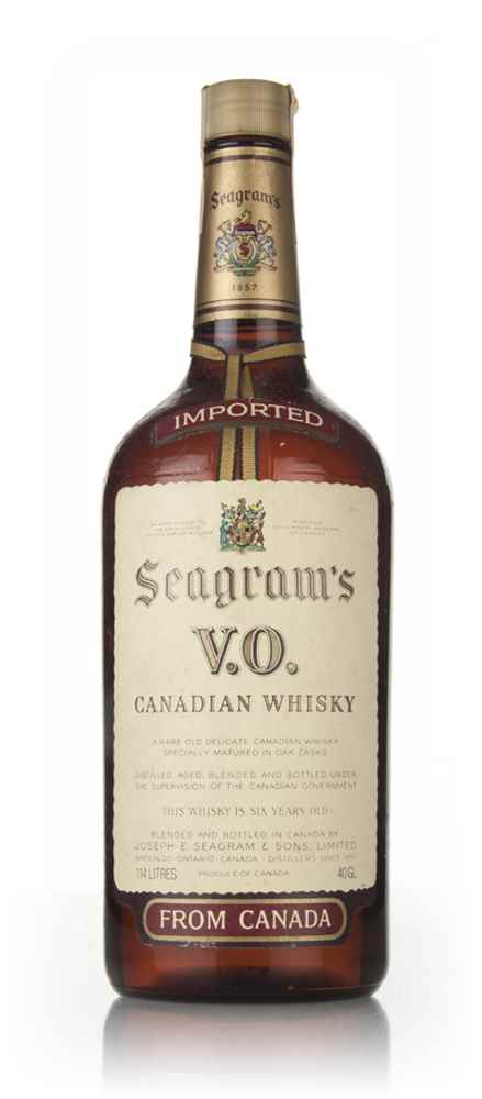 Seagram's V.O. 6 Year Old Canadian Whisky - 1980