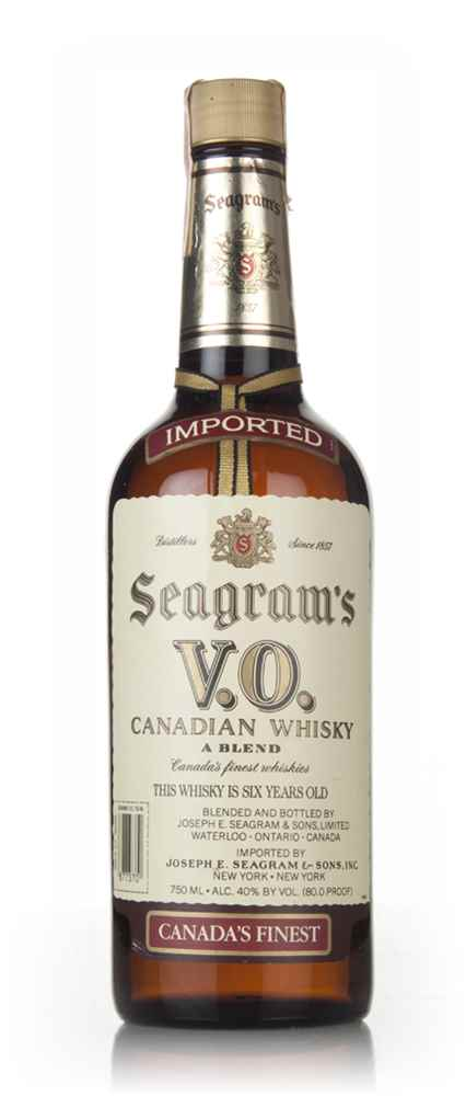 Seagram's V.O. 6 Year Old Canadian Whisky - 1986
