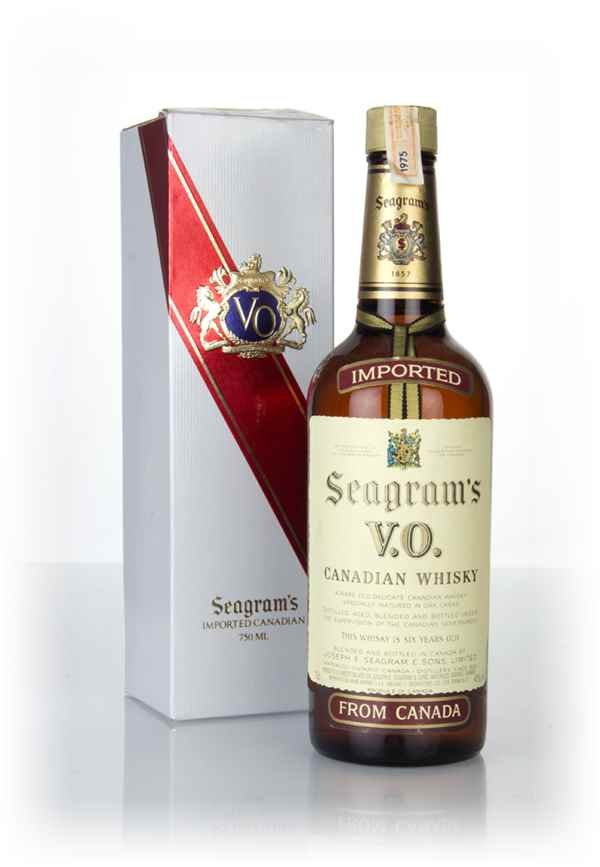 Seagram's V.O. 6 Year Old Canadian Whisky (Boxed) - 1975