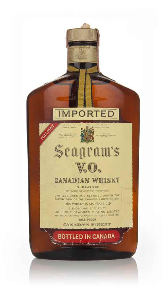 Seagram's VO 6 Year Old Canadian Whisky (Full Pint) - 1958