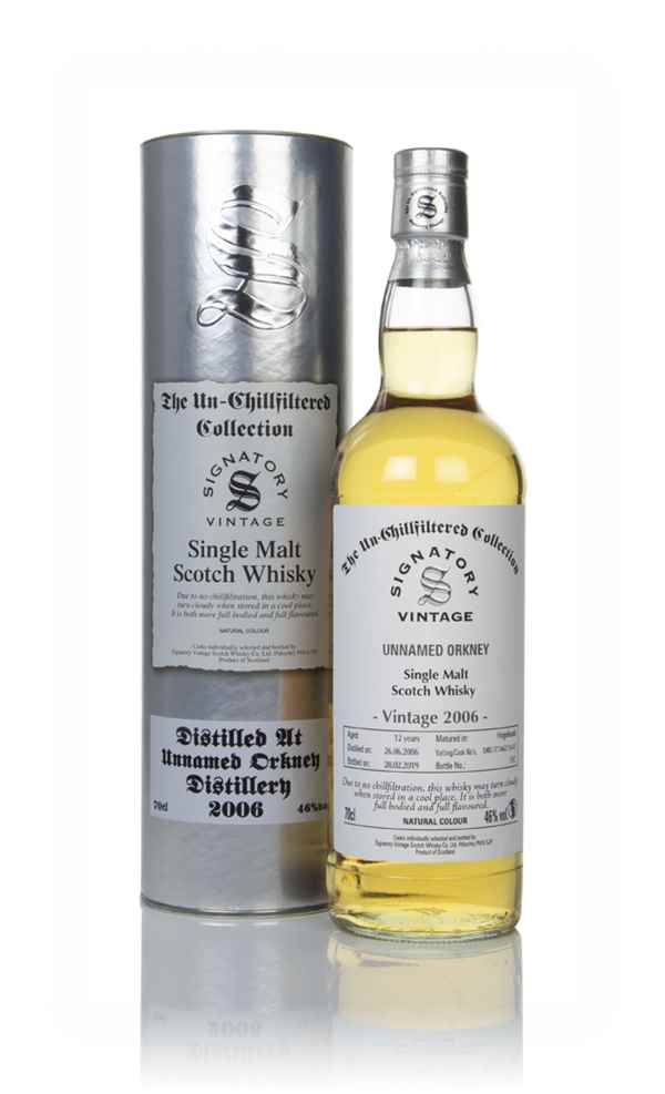 Unnamed Orkney 12 Year Old 2006 (casks 17/A62 11 & 12) - Un-Chillfiltered Collection (Signatory)