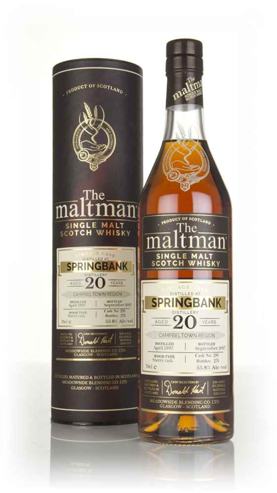 Springbank 20 Year Old 1997 (cask 290) - The Maltman
