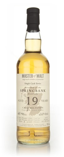 Springbank 19 Year Old Cask 482 - Single Cask (Master of Malt)
